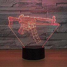 Zeichentrickfiguren Nachtlicht Kreative Pistole 3D