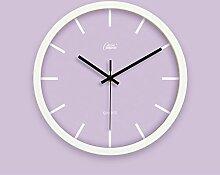 Zeit der Wand Einfache und stilvolle Wanduhr Modernes Schlafzimmer Pastorale Dekoration Uhren Wohnzimmer Ruhige Kreative Quarz-Uhr Wanduhr ( farbe : 6 )