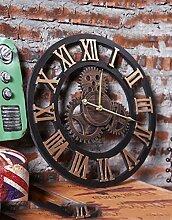Zeit der Wand Industrie Retro Style-Zahnrad-Taktgeber, Wand-Taktgeber-kreative Wand hängende Dekoration, (bar Wanduhr) Wanduhr ( farbe : B , größe : 49.5cm )