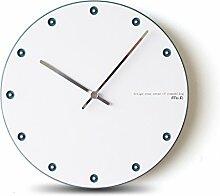 Zeit der Wand Minimalist Style 12 Zoll Wanduhr mit runden Dekoration Moderne Haushalt Quartz Clock Schlafzimmer Mute Wanduhr Wanduhr ( Farbe : 2# )