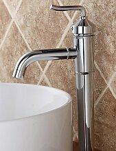 Zeitgen?ssische Chrome Finish ZWei?Griffe Messing Waschbecken Wasserhahn
