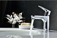 zeitgen?ssische Messing verchromt einziges Loch einzigen Handgriff Waschbecken