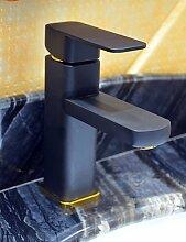 zeitgen?ssische schwarze Malerei ein Loch Einhand Waschbecken Wasserhahn