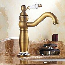 Zeitgenössische Antike Messinghähne Waschbecken