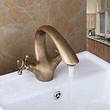 Zeitgenössische Bad Wasserhahn Antik Messing