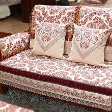 Zeitgenössische chinesische Sofakissen/Luxus Sofa Handtuch/ solide Holz Sofakissen-C 80x120cm(31x47inch)