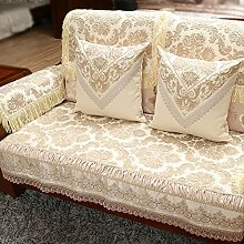 Zeitgenössische chinesische Sofakissen/Luxus Sofa Handtuch/ solide Holz Sofakissen-B 67x210cm(26x83inch)