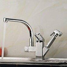 Zeitgenössische ziehen/Spray/Keramik Wand montiert herausziehen Küchenarmatur Armatur Einhebel Einlochmontage