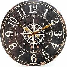 zeitlose Wanduhr Kompass 34 cm Ø Maritim
