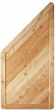 """Zeitloses Gartenzaun / Holz Sichtschutz Abschlusselement in den Maßen 90 x 180 auf 90 cm (Breite x Höhe) im Profilbrett Design aus Lärchen Holz """"Isar"""