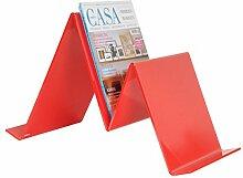 Zeitschriftenhalter CORTINA Rot - (D5900301)