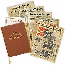 Zeitung vom Tag der Geburt 1938 - historische