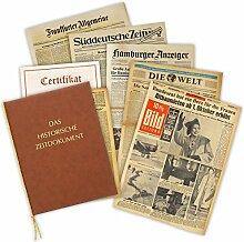 Zeitung vom Tag der Geburt 1951 - historische