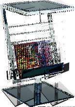 Zeitungsständer in Schwarz Schwarzglas