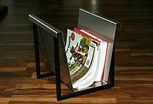 Zeitungsständer mit Rahmen, HxBxT: 30x33x27cm,