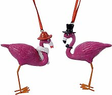 zeitzone Christbaumfiguren Flamingo Paar Verliebt