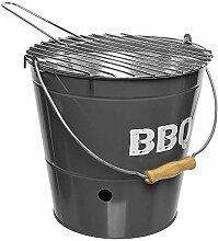 zeitzone Grilleimer BBQ Picknickgrill