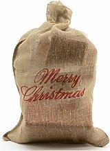 zeitzone Nikolaussack Merry Christmas Jutesack
