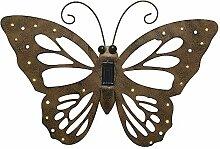 zeitzone Schmetterling Metall Rost Braun Solar