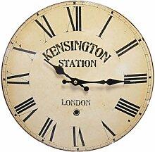zeitzone Wanduhr Kensington London Bahnhofsuhr