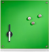 Zeller 11646 Memobord, Glas, grün, ca. 40 x 40 x