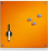 Zeller 11647 Memoboard, Glas, orange