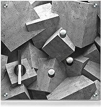 Zeller 11654 Memobord Cubes, Glas, ca. 40 x 40 x 2