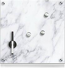 Zeller 11671 Memoboard Marmor, Glas, weiß, ca. 40