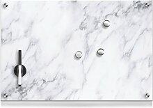 Zeller 11672 Memoboard Marmor, Glas, weiß, ca. 60