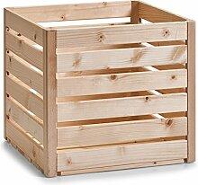 Zeller 13364 Leisten Aufbewahrungskiste, Holz,