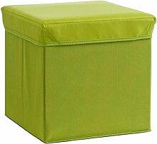 Zeller 13486 Aufbewahrungs-/ Sitzwürfel, Polyester/Vlies, 33 x 33 x 33 cm, grün