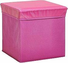 Zeller 13487 Aufbewahrungs-/ Sitzwürfel, Polyester/Vlies, 33 x 33 x 33 cm, rosa