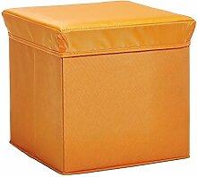 Zeller 13488 Aufbewahrungs-/ Sitzwürfel, Polyester/Vlies, 33 x 33 x 33 cm, orange
