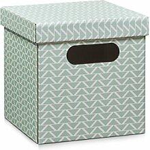 Zeller 17504 Aufbewahrungsbox, Pappe, mint, 28 x
