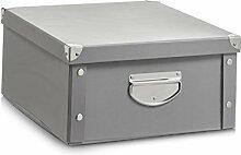 Zeller 17599 Aufbewahrungsbox, Pappe, grau, 40 x