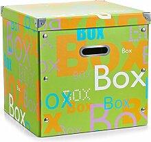 Zeller 17679 Aufbewahrungsbox Box, Pappe, grün