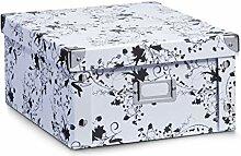Zeller 17847 Aufbewahrungsbox, Pappe floral 31 x