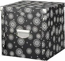 Zeller 17885 Aufbewahrungsbox, Pappe, floral / 36