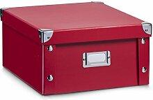 Zeller 17917 Aufbewahrungsbox, Pappe, rot, ca. 31