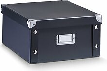 Zeller 17918 Aufbewahrungsbox, Pappe, schwarz, ca.