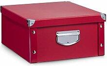 Zeller 17927 Aufbewahrungsbox, Pappe, rot, ca. 40