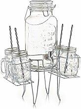 Zeller 19748 Getränkespender- / Gläser-Set,
