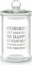 Zeller 19974 Vorratsglas Kitchen Rules, 2400 ml,