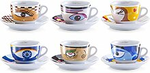 Zeller 26511 CAPPUCCINO-SET 12-TLG MAGIC EYES