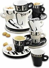 Zeller 26541 Cappuccino-Set, 8-tlg., 'Coffee
