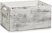 Zeller Aufbewahrungs-Kiste Rustic weiß, Holz,