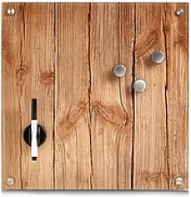 Zeller Glas-Magnettafel   40,0 x 40,0 cm Wood