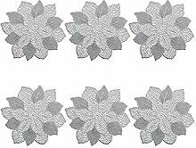 Zeller Platzset 'Flower', 6er Set, PVC,