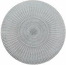 Zeller Platzset, PVC, silber, 41 cm
