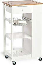 Zeller Present Küchenwagen, mit 4 Rollen B/H/T: